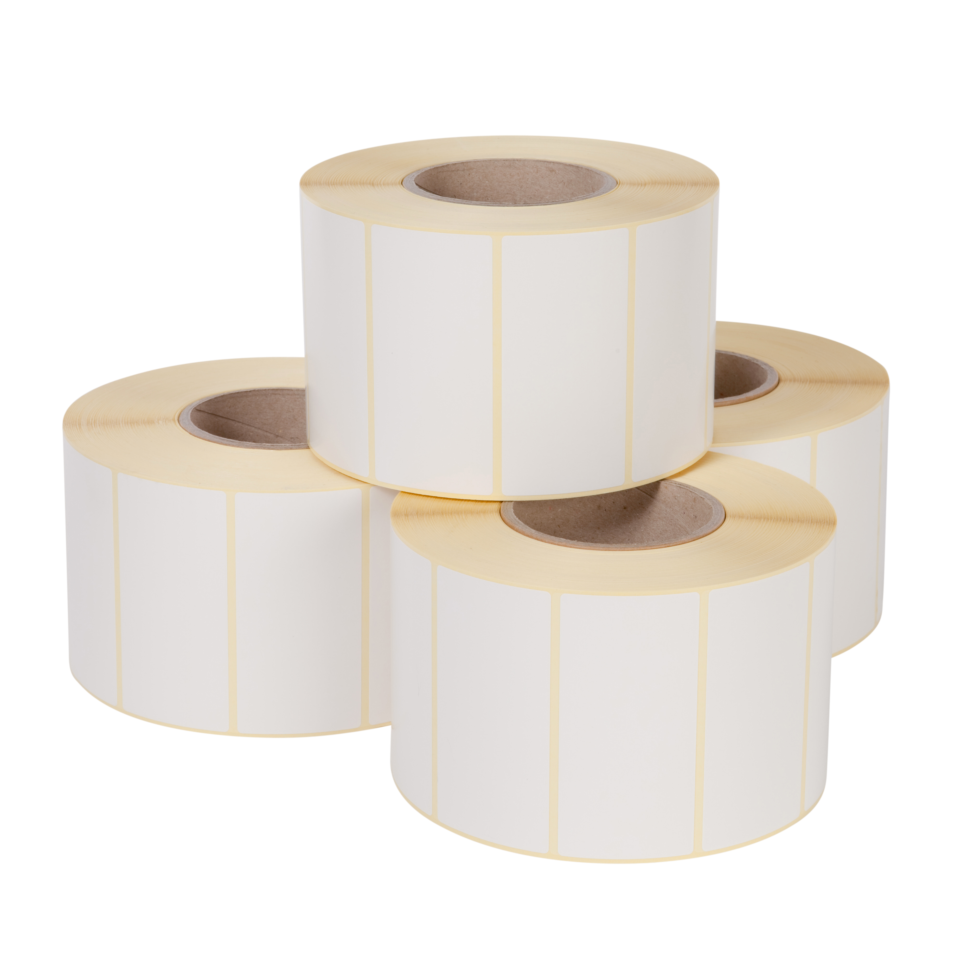Direct thermal label rolls