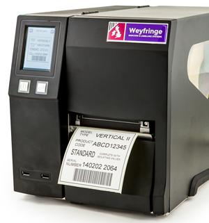 Stand alone barcode label printer