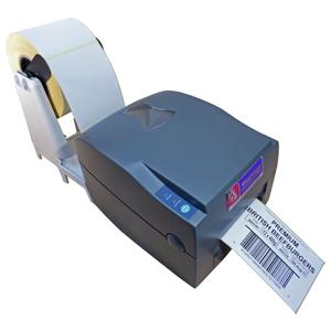 V Series label printer and roll holder