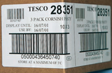 Wrap around barcode labels